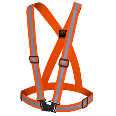 Hi-Vis Premium Safety Sash with 1.5 Inch Elastic - Adjustable - Pioneer - 5496