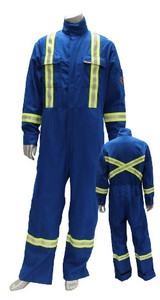Hi-Vis Fire Resistant NOMEX IIIA® Safety Coverall FR, CSA Nomex 40DX60NX RB