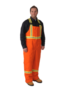 Firewall FR Striped Insulated Overalls Orange| Viking