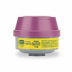 Mercury Vapor and Chlorine Cartridge | P100 Particulate Filter and ESLI | North