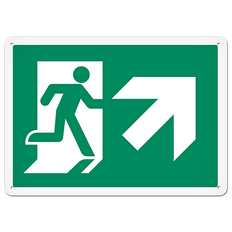 Fire Signs - Running Man Sign   Exit Up Right