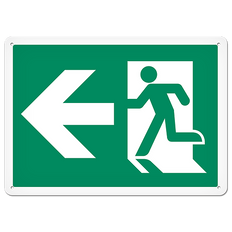 Fire Signs - Running Man Sign   Exit Left