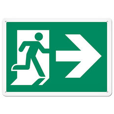 FIRE SIGNS - Running Man Sign   Exit Right