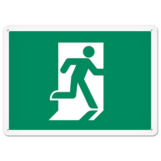 Fire Signs - Running Man Exit Sign