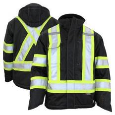 Waterproof Mid Weight Safety Fleece Lined Jacket   Class 1, 2 & 3, Level 2  