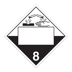 Corrosive | Class 8 Placard | Incom