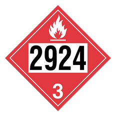 Flammable Liquid, Corrosive | Class 3 Placard | Incom