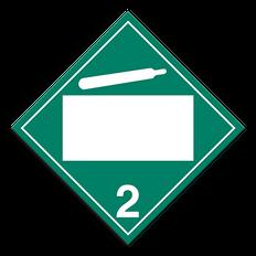 Non-Flammable & Non-Toxic Gasses | Class 2.2 Placard | Incom