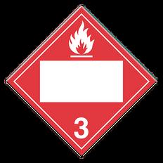 Flammable Liquids | Class 3 Placard | Incom