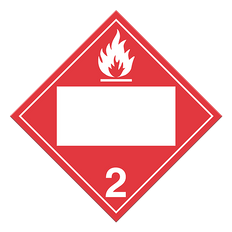 Flammable Gases | Class 2.1 Placard | Incom