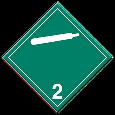 Non-Toxic & Non-Flammable Gases | Class 2.2 Placard | Incom