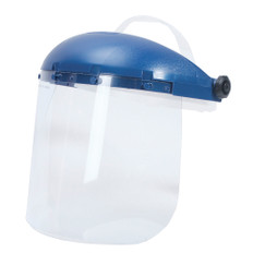Sellstrom Single Crown Face Shield with Window and Ratcheting Headgear -Anti-Fog