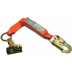 ADP Rope grab with 2ft shock absorbing lanyard | Triple-locking closing mech.