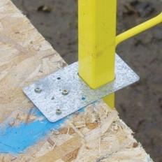 Guardrail Standard Gusset Mount | Reusable | Norguard