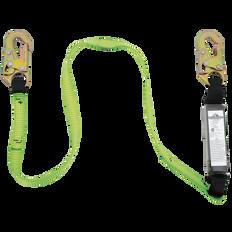 E4 Shock Absorbing Lanyard - SP - Single Leg - Snap Hooks | Peakworks