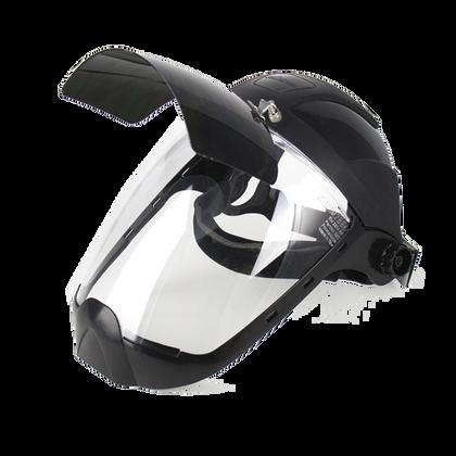 Clear Anti-Fog Polycarbonate Plasma/Flame Cutting, Grinding Face Shield w/ Shade