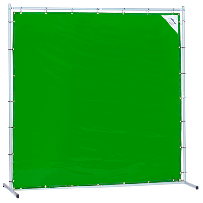 Sellstrom Welding Curtain with Frame - 6'x6' - Green - S97342