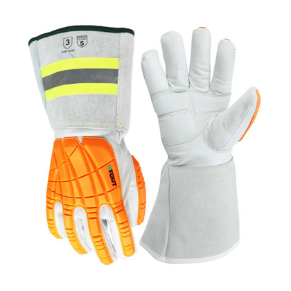 Platinum Series WPNT-0815 Impact Gauntlet Glove, Thinsulate-Lined | ANSI Cut 5 Puncture 3 |  Stout® Gloves
