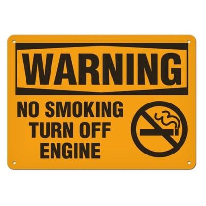 OSHA Safety Sign   Warning Turn Engine    Incom