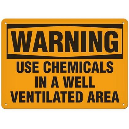 OSHA Safety Sign | Warning Use Chemcial | Incom