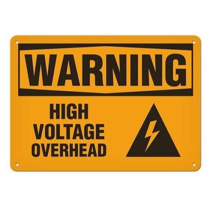OSHA Safety Sign   Warning Voltage Over   Incom