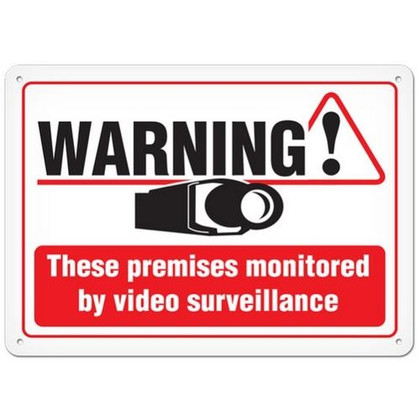 OSHA Safety Sign | Warning! Monitored By Video  | Incom