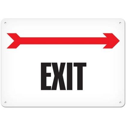 OSHA Safety Sign | Exit ------->  | Incom