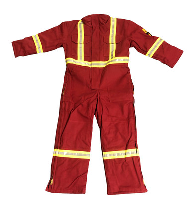 *BLOW OUT* RED INSULATED FR COVERALLS | FIREWALL