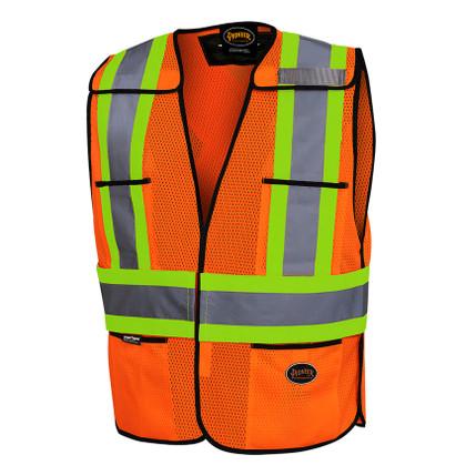 Hi-Vis Tear-Away Traffic Safety Vest - CSA, Class 2 - Pioneer - 6926