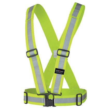 Hi-Vis Adjustable Safety Sash - Tear-away - Pioneer - 5592 - Yellow/Green