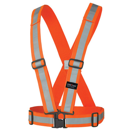 Hi-Vis Adjustable Safety Sash - Tear-away - Pioneer - 5591 - Orange