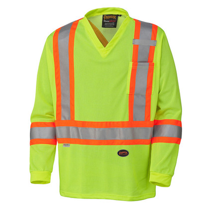 Hi-Vis Quick-Dry Long Sleeve Safety Shirt - CSA, Class 2 - Pioneer - 6985
