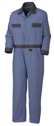 Hi-VisCotton Safety Coverall with Buttons Reg & TallPioneer 5133T