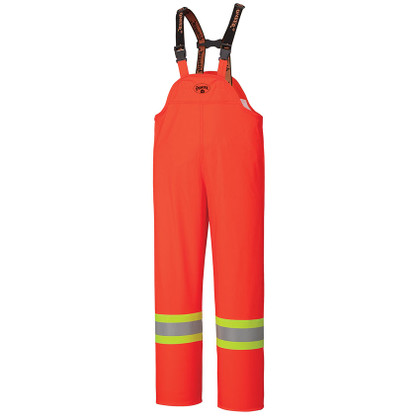 FR Hi-Vis 4-Way Stretch Waterproof Rain Bib Pant CSA, Class 2 Pioneer 5893