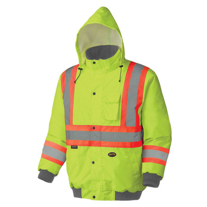 Hi-Vis Waterproof Winter Insulated Safety Bomber - CSA, Class 2 - Pioneer - 5033