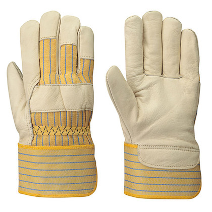 Extra Large Fitter's Cowgrain Striped Safety Glove -12 Pkg  Pioneer - 537XL