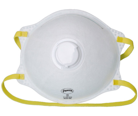 Cone-Shaped N95 Respirators with Valve - 10 Pkg - Pioneer - 355