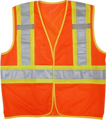 Hi-Vis Mesh Safety Vest - BTE, CSA - Viking 6110O