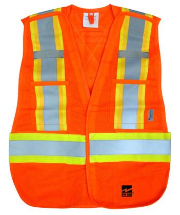 Hi-Vis 5-Point Tear-Away Safety Vest -2 Pkg - Viking - 6115O
