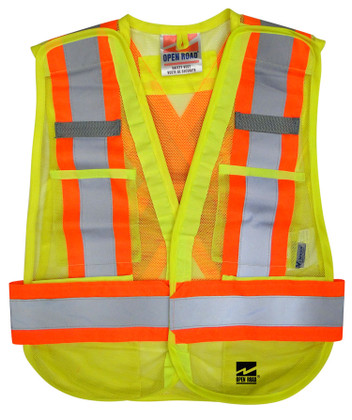 Hi-Vis 5-Point Tear-Away Safety Vest -2 Pkg - Viking - 6115G