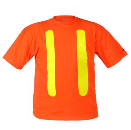 Hi-Vis 100% Cotton Safety T-Shirt OSHA Viking 6001O - Orange