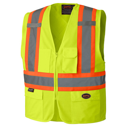 Hi-Vis Safety Vest w/ Front Zipper - CSA, Class 2 - 159 Pioneer
