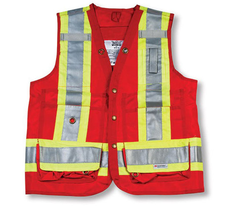Hi-Vis Polyester Surveyor Safety Vest - CSA - Big K - BK402_RED