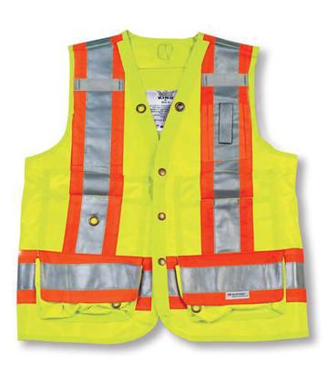 Hi-Vis Polyester Surveyor Safety Vest - CSA - Big K - BK402_LIME