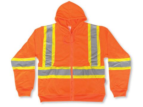 Hi-Vis 100% Poly Zip-Up Safety Hoodie - CSA, Class 2 - Big K - 3553 Orange