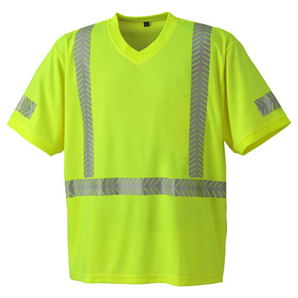 Hi-Vis Cool-Pass Safety T-Shirt - CSA, Class 2 - Pioneer 6901 Yellow