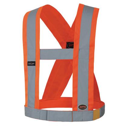 Adjustable Hi-Vis Premium Elastic Safety Sash - CSA - Pioneer Startech - 5490
