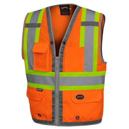 Hi-Vis Mesh Back Zip Surveyor Safety Vest CSA, Class 2 Pioneer 6672