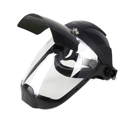 Multi-Purpose Face Shield with Flip-Up IR Window & Ratcheting Headgear   Sellstrom