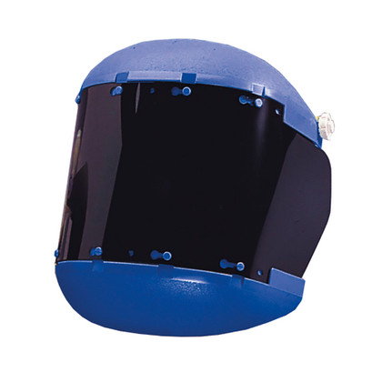 Sellstrom Dual Crown Face Shield with Ratcheting Headgear - Shade 5 IR -Uncoated